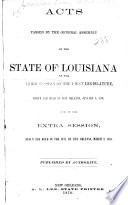 Acts Passed at the     Session of the     General Assembly of the State of Louisiana Book