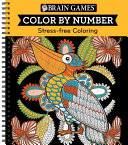 Brain Games Color By Number Stress Free Coloring Orange  PDF