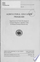 Agricultural Education Programs