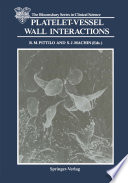 Platelet Vessel Wall Interactions Book PDF
