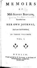 Memoirs of Miss Sidney Bidulph