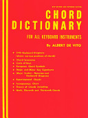 Chord Dictionary for Keyboard Instruments: Reference Book