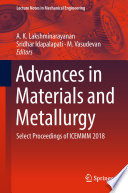 Advances in Materials and Metallurgy Book