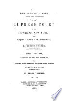 Reports Of Cases Argued And Determined In The Supreme Court Of The State Of New York 1803 1805