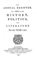 Pdf The Annual Register, Or, A View of the History, Politics, and Literature for the Year ...