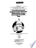 Local Government Employment In Selected Metropolitan Areas And Large Counties
