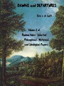 Ruminations, Volume 2, Dawns and Departures Pdf/ePub eBook