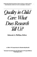 Quality in child care
