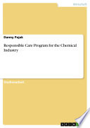 Responsible Care Program for the Chemical Industry Book