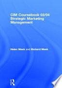 Strategic Marketing Management  : Planning and Control, 2003-2004