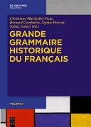 Pdf Grande Grammaire Historique du Français (GGHF) Telecharger