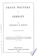 Prose Writers of German Book PDF