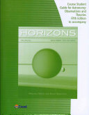 Telecourse Study Guide for Seeds Backman s Horizons  Exploring the Universe Book