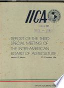 Report of the Third Special Meeting of the Inter American Board of Agriculture