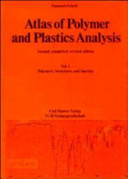 Atlas of Polymer and Plastics Analysis  Atlas of Polymer and Plastics Analysis Book