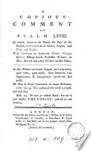 A Copious Comment On Psalm Lxviii By R Clarke  Book PDF