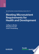 Meeting Micronutrient Requirements for Health and Development Book