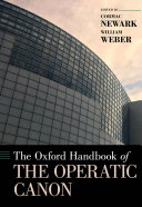 Pdf The Oxford Handbook of the Operatic Canon Telecharger
