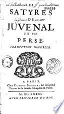 Les satires de Juvénal et Perse