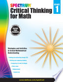 Spectrum Critical Thinking For Math Grade 1