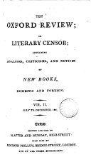 The Oxford review  or  Literary censor