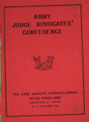 Army Judge Advocates Conference 24 27 September 1956