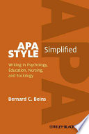 APA Style Simplified Book