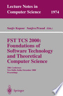 FST TCS 2000  Foundations of Software Technology and Theoretical Science