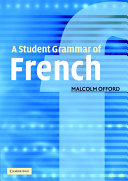 Pdf A Student Grammar of French