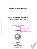 Federal Trade Commission Decisions