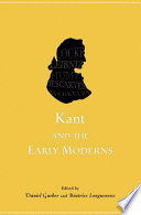 Kant and the Early Moderns Book