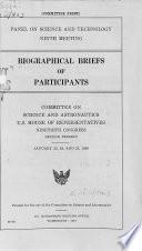 Biographical Briefs of Participants