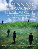 Beginning Behavioral Research   Mysearchlab Book