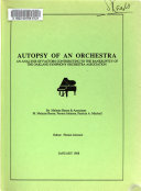Autopsy of an Orchestra