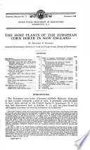 The host plants of the European corn borer in New England
