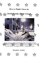 How to Predict Snow in South County, Rhode Island [Pdf/ePub] eBook
