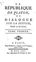 La république, ou Dialogue sur la justice