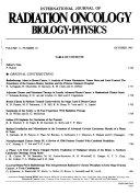 International Journal of Radiation Oncology  Biology  Physics