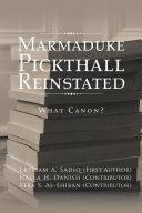 Marmaduke Pickthall Reinstated