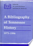 A Bibliography Of Tennessee History 1973 1996