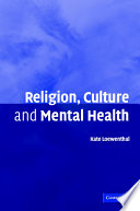 Religion Culture And Mental Health Book PDF