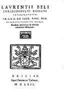Interpretatio in L. II. C. de Sacr. Sanc. Eccl. ... ejusd ... de Mortuis coemeterio restituendis