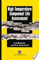 High Temperature Component Life Assessment Book PDF
