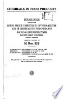Chemicals in Food Products Book