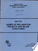 Inactive Names of Reclamation Projects and Major Structures