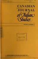 Canadian Journal of Italian Studies