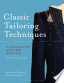 Cover of Classic tailoring techniques for menswear : a construction guide
