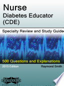Nurse-Diabetes Educator (CDE) Specialty Review and Study Guide