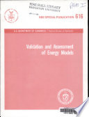 Validation and assessment of energy models Book