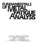 Fundamentals Of Metal Fatigue Analysis Book PDF